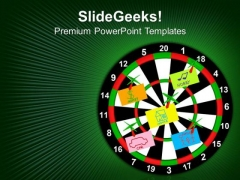 Darts With Stickers Depicting The Life Values PowerPoint Templates And PowerPoint Themes 0912