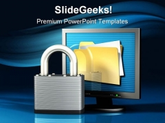 Data Is Secure Internet PowerPoint Template 1110