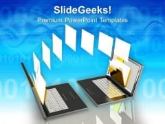 Data Transfer Technology PowerPoint Templates And PowerPoint Themes 0812
