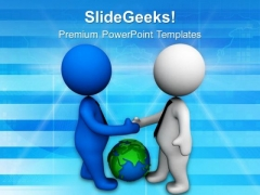 Deal Your Business Globally PowerPoint Templates Ppt Backgrounds For Slides 0713