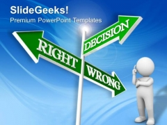 Decision Signpost Business PowerPoint Templates And PowerPoint Themes 0912