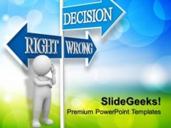 Decision Signpost PowerPoint Templates And PowerPoint Themes 0912