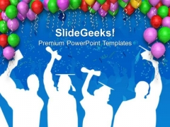 Decoration With Balloons Party Theme PowerPoint Templates Ppt Backgrounds For Slides 0413