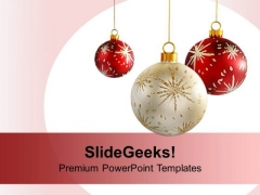 Decorative Christmas Ornaments PowerPoint Templates Ppt Backgrounds For Slides 1112