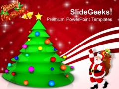 Decorative Christmas Tree Festival PowerPoint Templates Ppt Backgrounds For Slides 1212