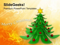 Decorative Christmas Tree With Background PowerPoint Templates Ppt Backgrounds For Slides 1112