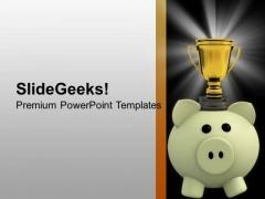 Dedication Towards Success Money PowerPoint Templates Ppt Backgrounds For Slides 0413