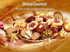 Delicious Christmas Cookie Holidays PowerPoint Themes And PowerPoint Slides 0211