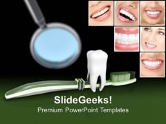 Dental Collage With Tooth Brush PowerPoint Templates Ppt Backgrounds For Slides 0213