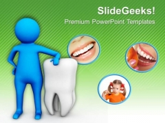 Dentist Keeps The Care Of Smile PowerPoint Templates Ppt Backgrounds For Slides 0713