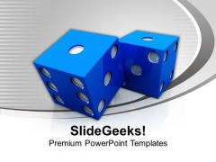 Dice Casino Game Theme PowerPoint Templates Ppt Backgrounds For Slides 0413