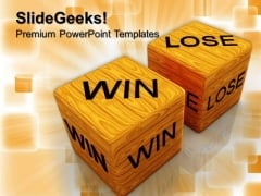 Dice Win Vs Lose Success PowerPoint Templates And PowerPoint Themes 0712