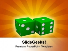 Dices Gambling Concept PowerPoint Templates Ppt Backgrounds For Slides 0513