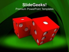 Dices To Play Game PowerPoint Templates Ppt Backgrounds For Slides 0413