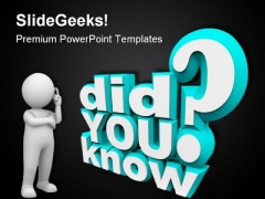 Did You Know Communication PowerPoint Themes And PowerPoint Slides 0611