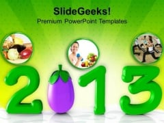 Diet Resolution In New Year Health PowerPoint Templates Ppt Backgrounds For Slides 1212