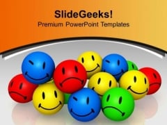 Different Expressions Individuality PowerPoint Templates Ppt Backgrounds For Slides 0213