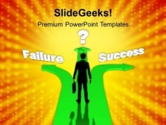 Different Path To Failure Success Business PowerPoint Templates Ppt Background For Slides 1112