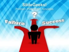 Different Paths To Success Or Failure Symbol PowerPoint Templates And PowerPoint Themes 0912