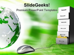 Digital Archive Mouse PowerPoint Templates And PowerPoint Backgrounds 0311