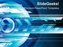 Digital Background Technology PowerPoint Themes And PowerPoint Slides 0611