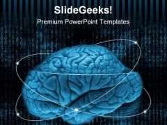 Digital Brain Science PowerPoint Themes And PowerPoint Slides 0611