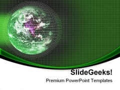 Digital Earth Abstract PowerPoint Themes And PowerPoint Slides 0611