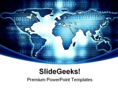 Digital World Map Globe PowerPoint Themes And PowerPoint Slides 0411