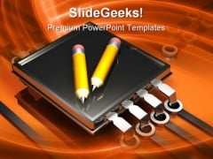 Digital Writing Technology PowerPoint Themes And PowerPoint Slides 0311