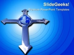 Directions Earth Globe PowerPoint Templates And PowerPoint Backgrounds 0911