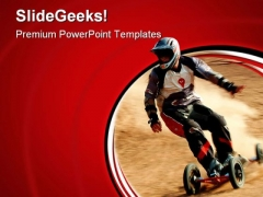 Dirt Burner Sports PowerPoint Templates And PowerPoint Backgrounds 0611