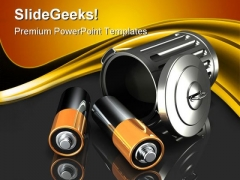 Discarding Batteries Technology PowerPoint Themes And PowerPoint Slides 0211