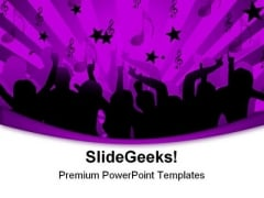 Disco Dancers Music PowerPoint Themes And PowerPoint Slides 0311