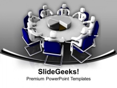 Discuss Business Matters In Meetings PowerPoint Templates Ppt Backgrounds For Slides 0513