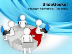 Discuss Business Result And Share Online PowerPoint Templates Ppt Backgrounds For Slides 0613