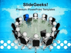 Discuss Matters With Team PowerPoint Templates Ppt Backgrounds For Slides 0513