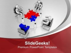 Discuss Problem With Team And Solve Them PowerPoint Templates Ppt Backgrounds For Slides 0613