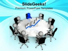 Discuss Reviews Of Business With Team PowerPoint Templates Ppt Backgrounds For Slides 0613
