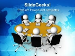 Discuss The Business Issuses With Team PowerPoint Templates Ppt Backgrounds For Slides 0613