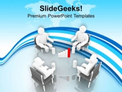 Discuss The Business Results With Clients PowerPoint Templates Ppt Backgrounds For Slides 0513
