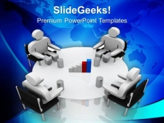 Discuss The Business Results With Team PowerPoint Templates Ppt Backgrounds For Slides 0613