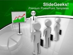 Discuss The Financial Matter With Clients PowerPoint Templates Ppt Backgrounds For Slides 0613