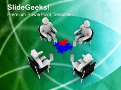 Discuss The Problem With Team PowerPoint Templates Ppt Backgrounds For Slides 0613