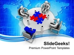 Discuss The Problems In Business PowerPoint Templates Ppt Backgrounds For Slides 0513