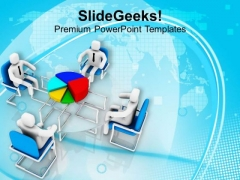 Discussion Of Pie Chart For Business Result PowerPoint Templates Ppt Backgrounds For Slides 0613