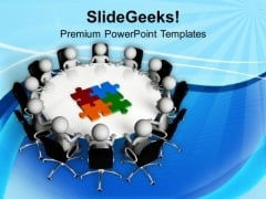 Discusss The Business Problems In Team Meeting PowerPoint Templates Ppt Backgrounds For Slides 0613