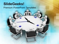 Disscuss The Results In Time Bound Meetings PowerPoint Templates Ppt Backgrounds For Slides 0713