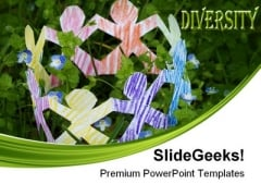 Diverse Community Communication PowerPoint Templates And PowerPoint Backgrounds 0411