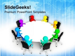 Diverse People Doing Business Meeting PowerPoint Templates Ppt Backgrounds For Slides 0513