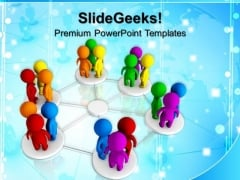 Diversity Networking Teamwork PowerPoint Templates And PowerPoint Themes 0712